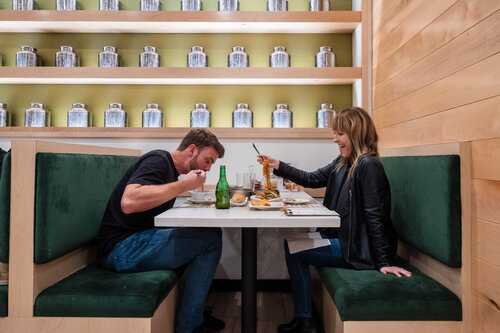 Couple Dining at Tim Ho Wan in Irvine CA