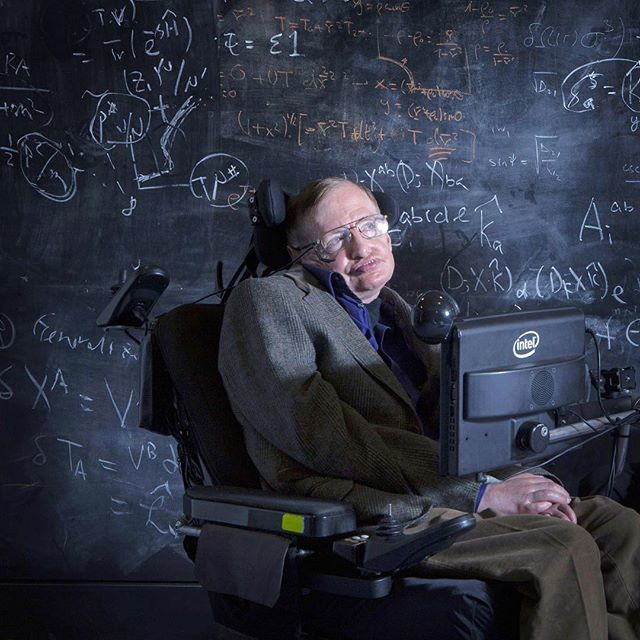 """Intelligence is the ability to adapt to change"". • Rest In Peace Stephen Hawking, your legacy will forever live on. #stephenhawking #eaglespaceflightteam #esft #esfterau #embryriddle #embryriddleaeronauticaluniversity #erauprescott #physics #theoreticalphysicist #rip"