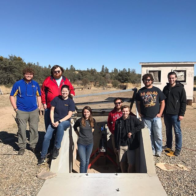 Members of the team performed 3 tests to characterize propellant this past Saturday at our on-campus rocket-test facility. 🚀  #eaglespaceflightteam #spaceshot #rockets #space #esft #erau #erauprescott #aerospaceengineering #engineering #rocketscience #launch #prescott #stilltesting