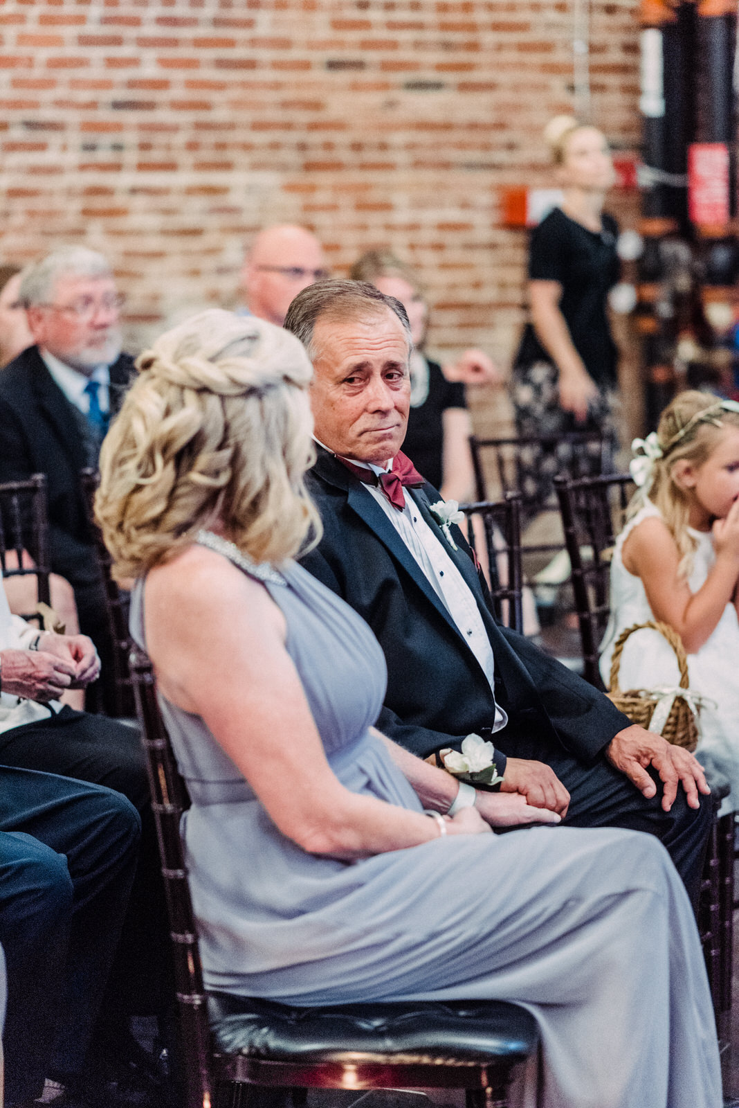 - Shoot guests reactions for ceremony, toasts, and dances,  especially parents