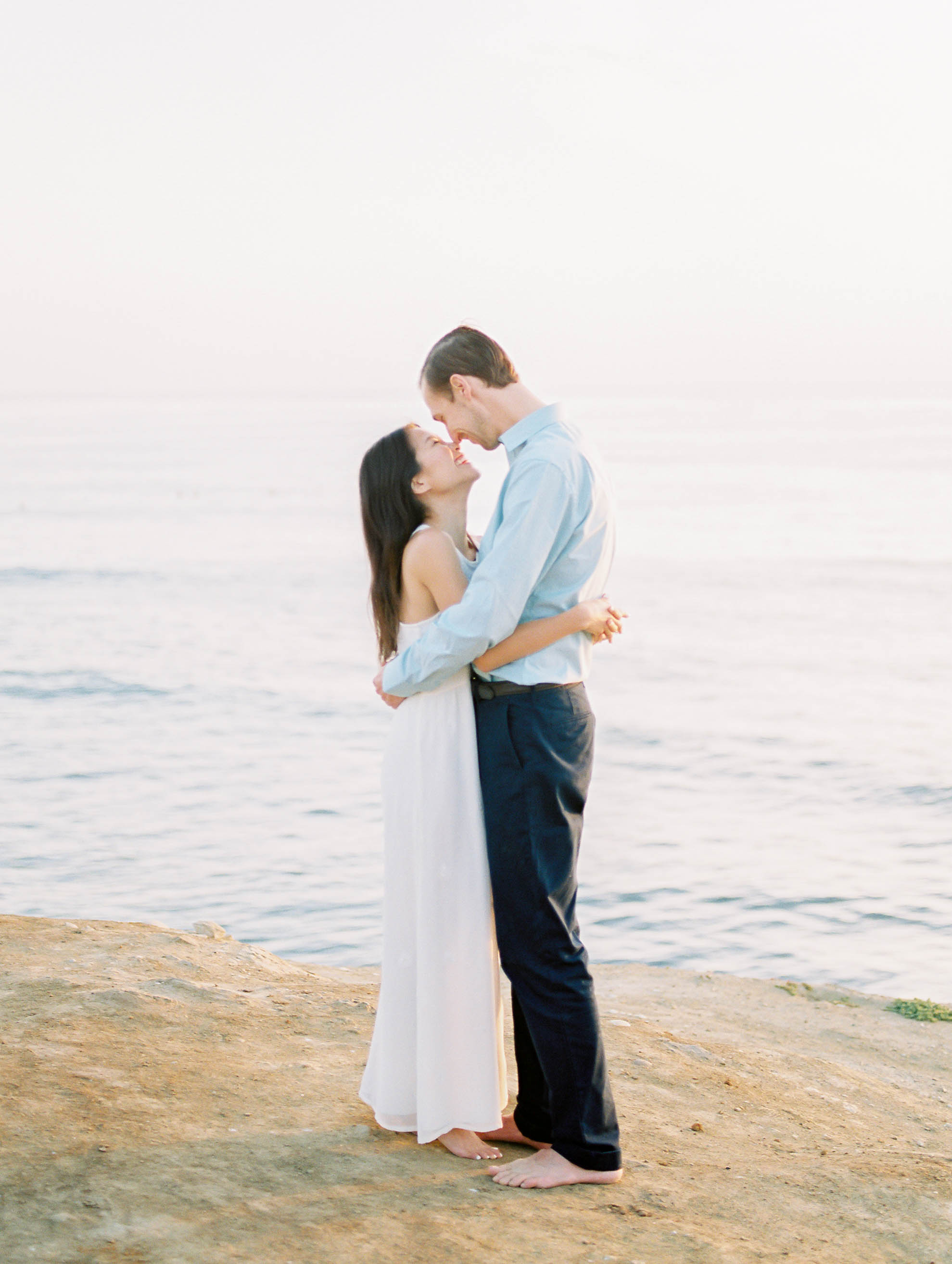 Sunset cliffs engagement session