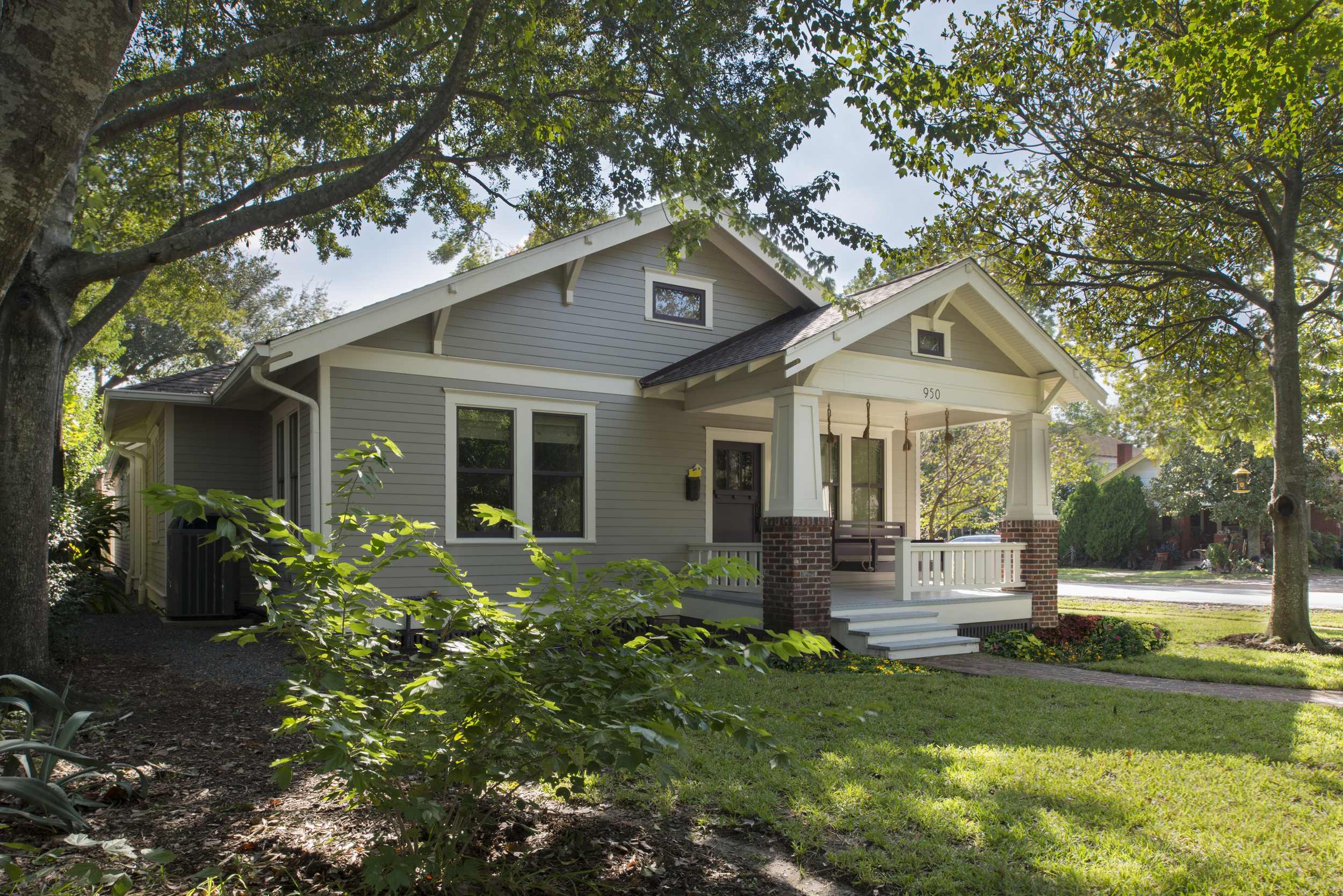 950 Redan: 1920 one-story duplex converted and expanded to single residence.
