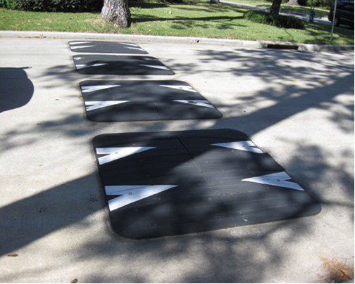 Example of speed humps.