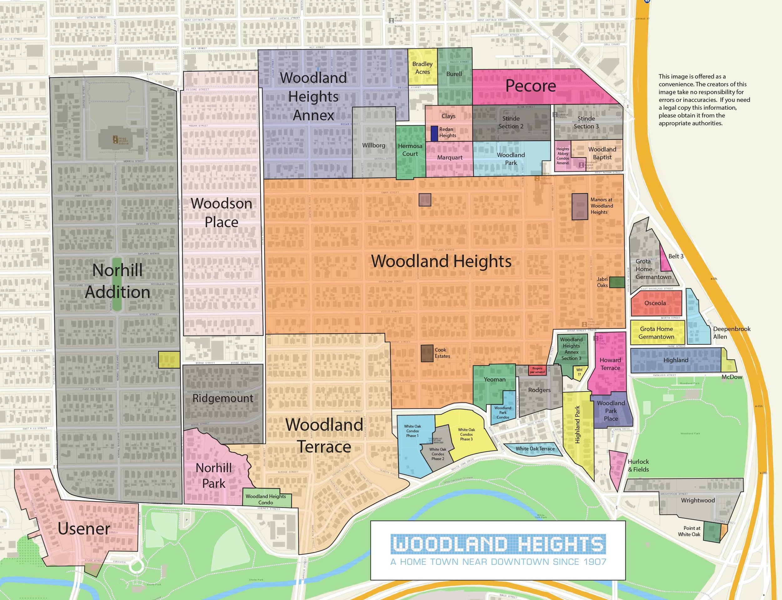 Woodland Heights Subdivision Map