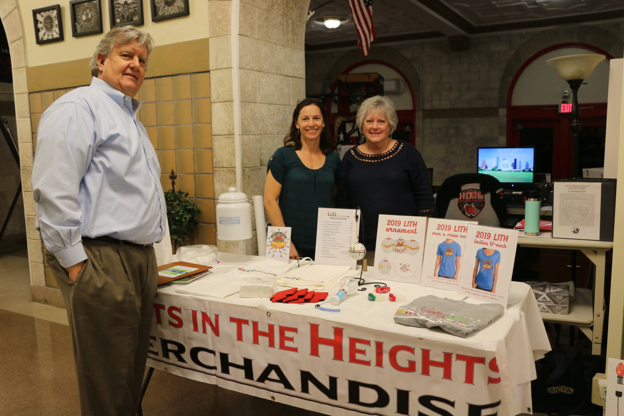(L-to-R) WHCA President, Harry McMahon, former Treasurer Melissa McKee and former Secretary Beth Allen-Brock.