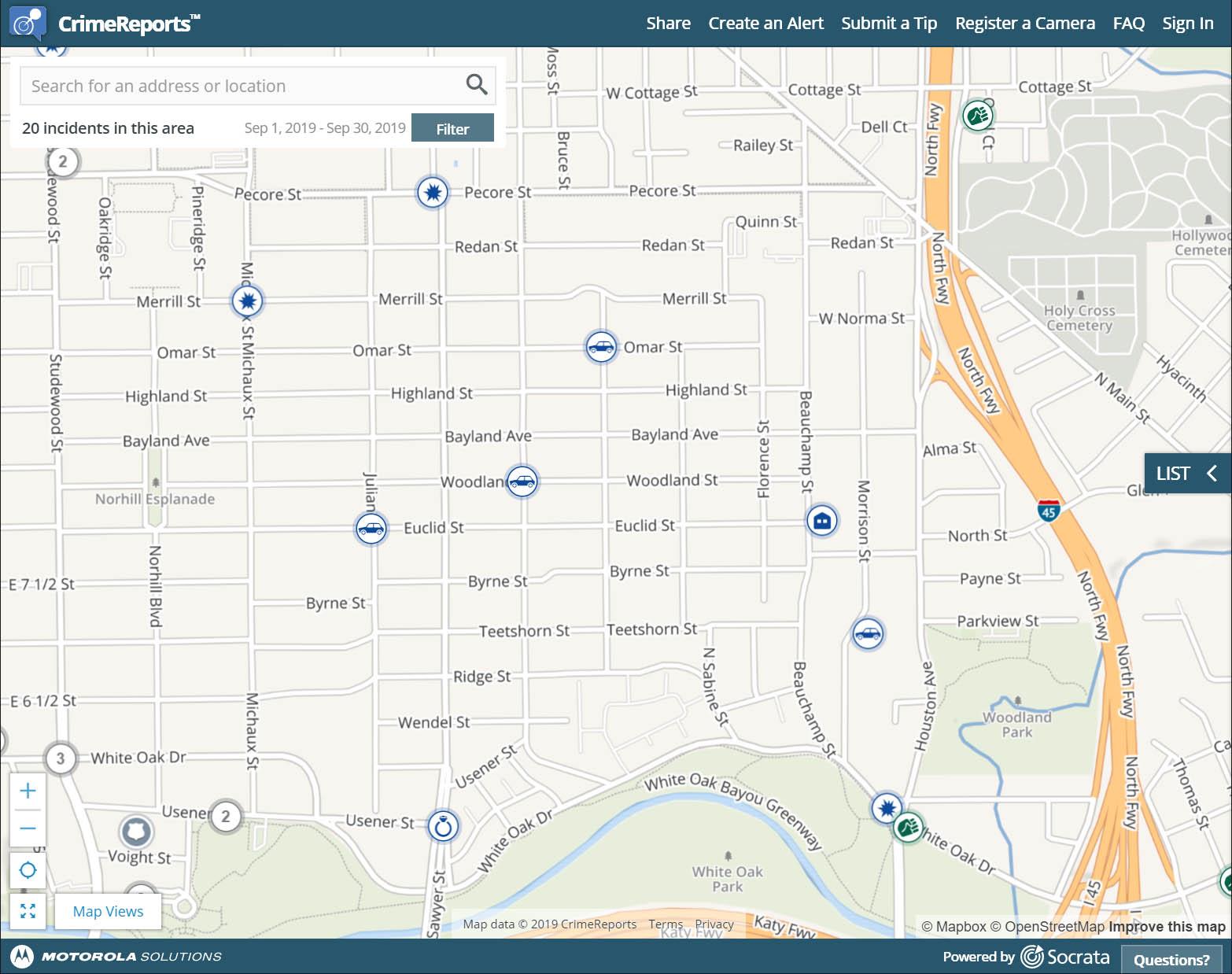 CrimeReports Alerts for Woodland Heights.jpg