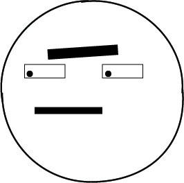 Fat peeved circle