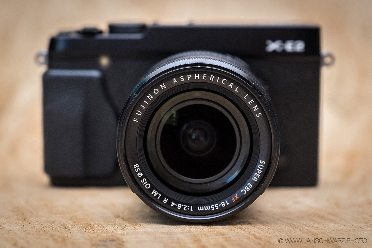 The so-called kit lens, the XF 18-55mm. In its class it's a shameless overperformer.