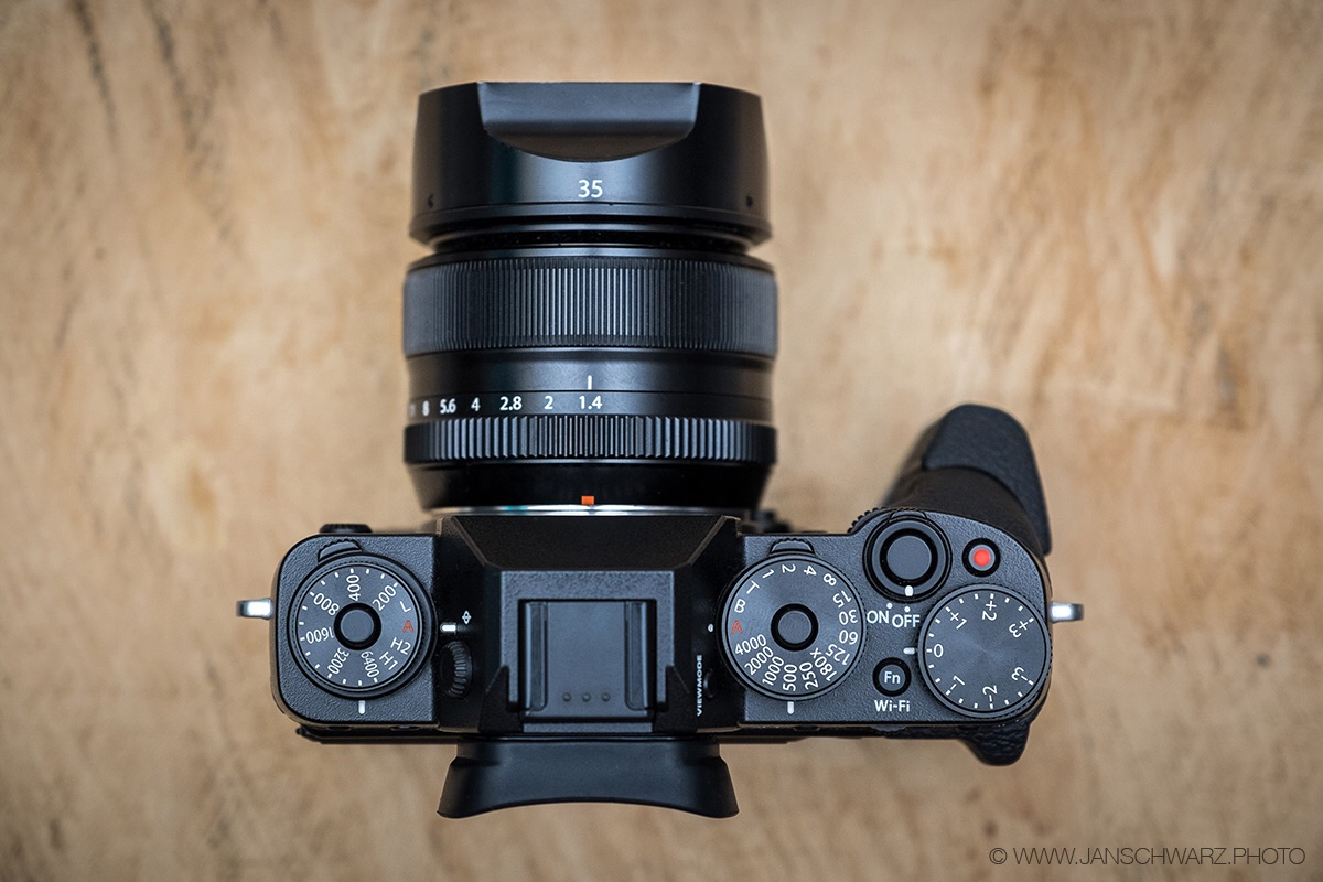 This is usually what you'll see me with: X-T1 with the Fujinon XF 35mm f/1.4. Love.
