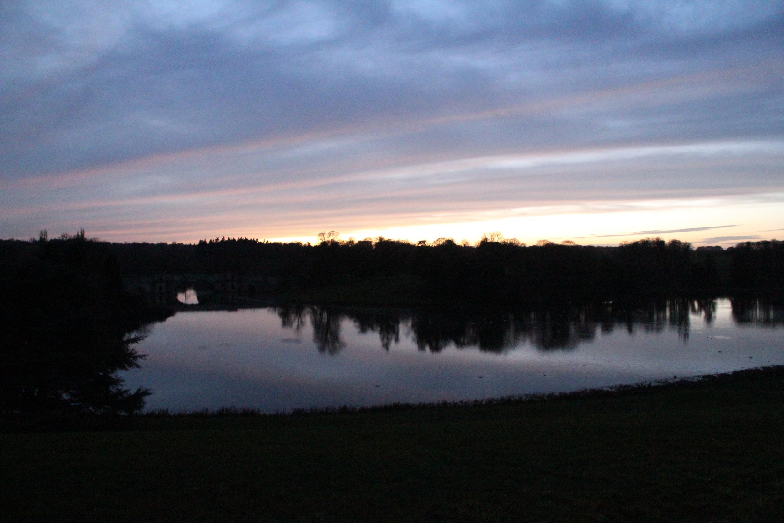 Bleinheim Palace at dusk, Woodstock, Oxfordshire, England