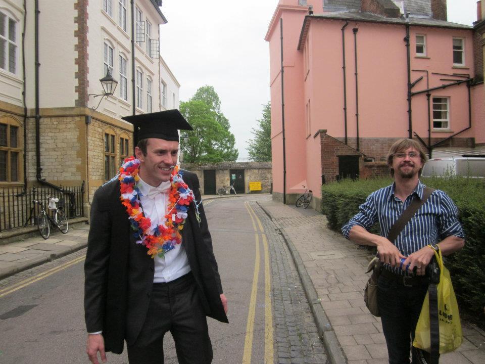 Post exams celebration, Exams Schools, Oxford, England