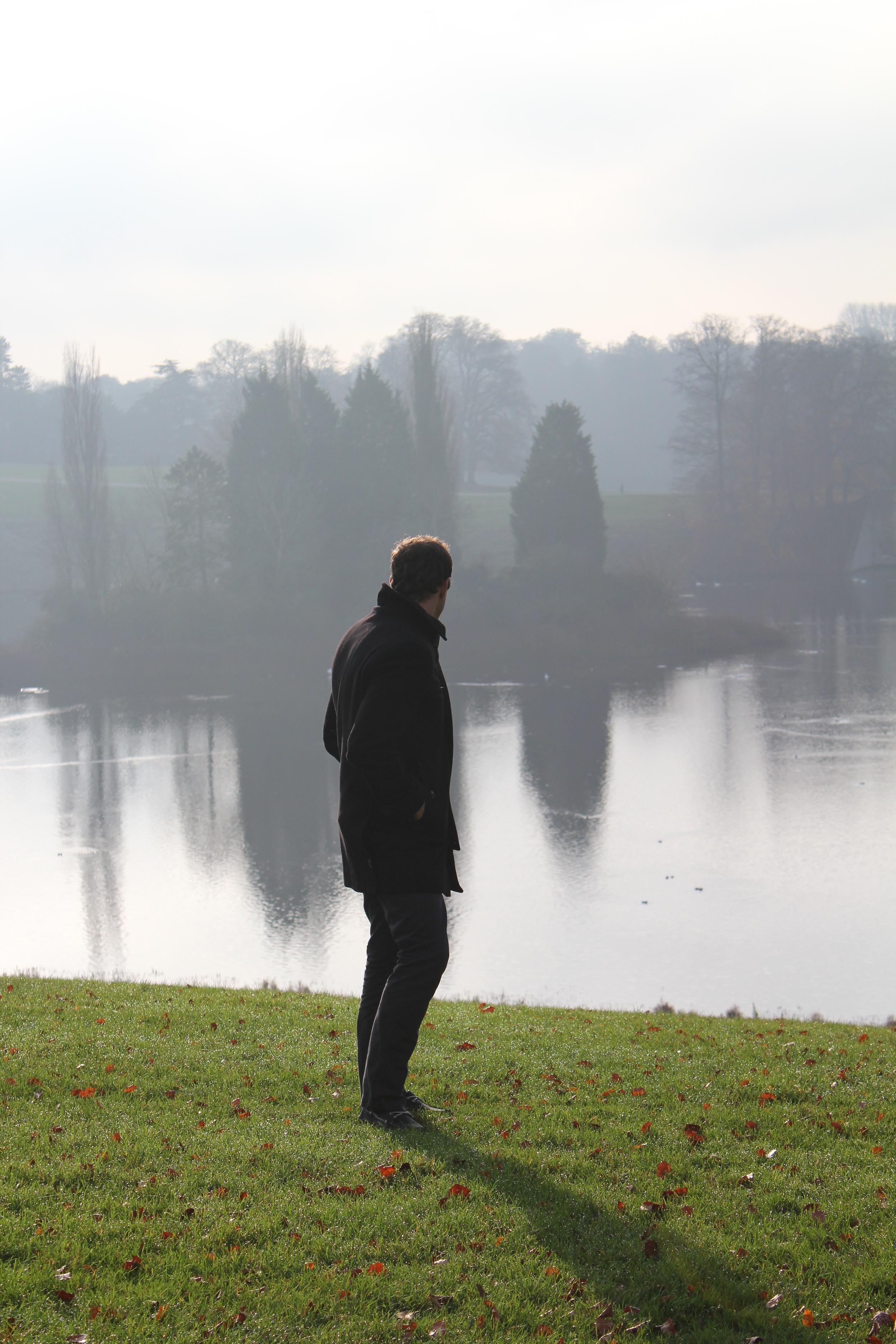 Ryan J Pemberton outside Blenheim Palace, Oxfordshire, England