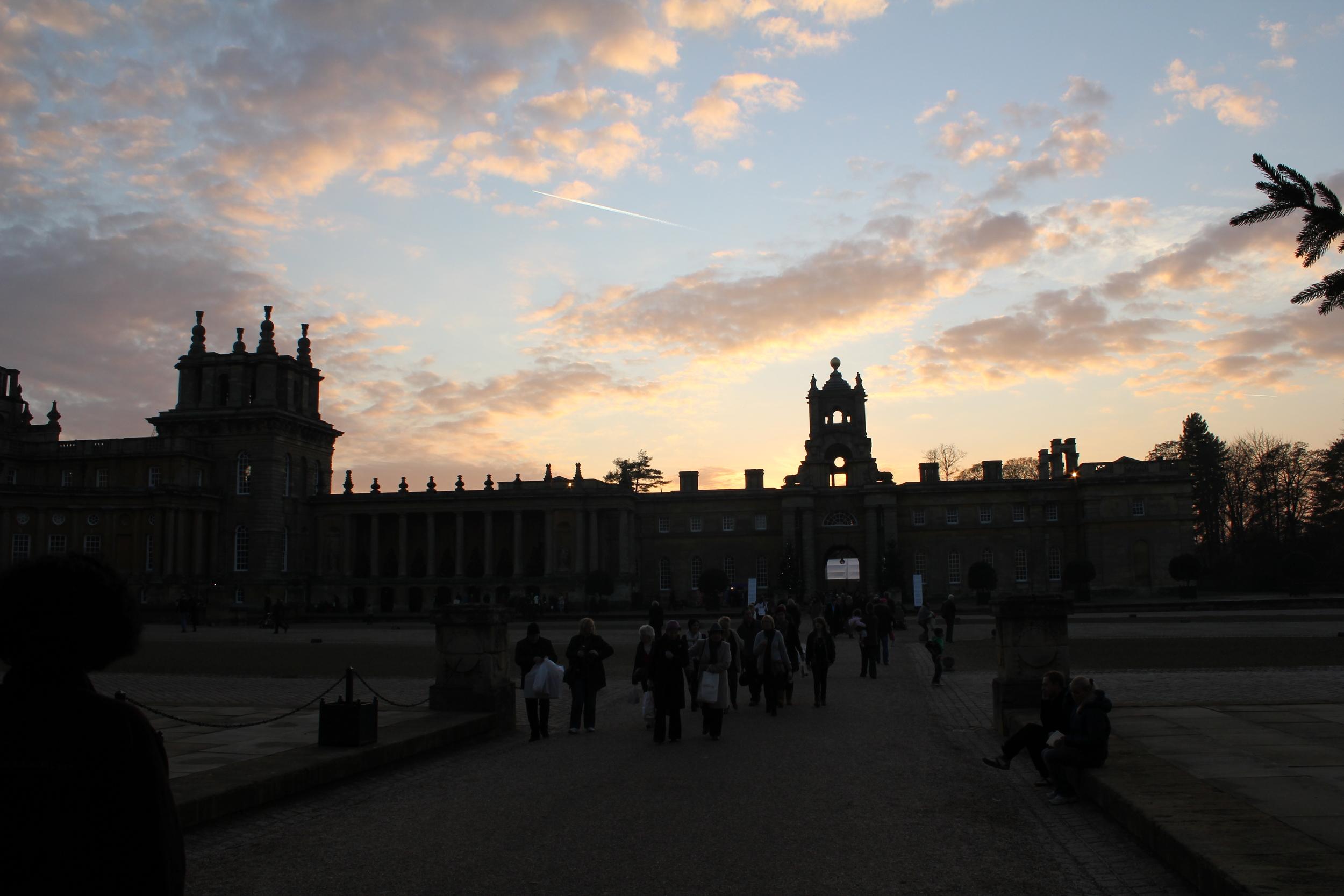 Blenheim Palace at dusk, Oxfordshire, England
