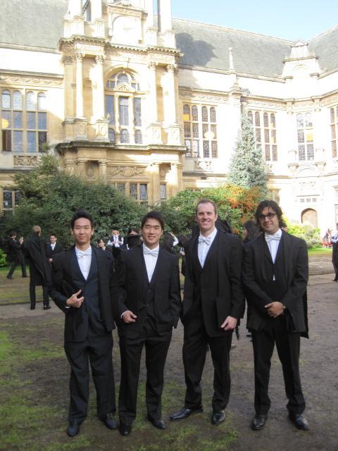 Matriculation photo, Exam Schools, Oxford, England