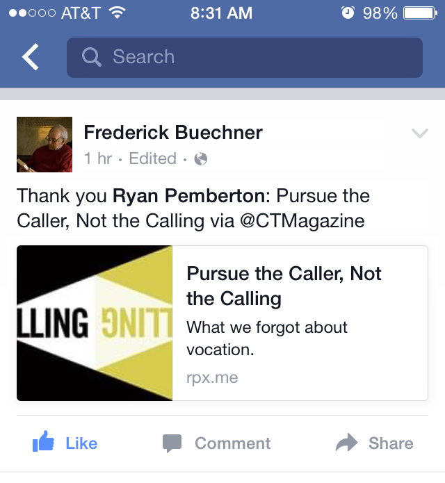 Frederick Buechner FB Thank You.PNG