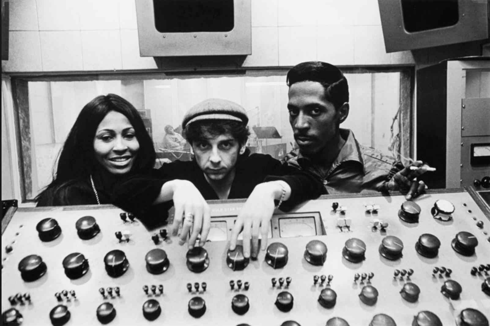 L-R: Tina Turner, Phil Spector, Ike Turner