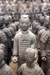 Emperor Huang's terracota soldiers
