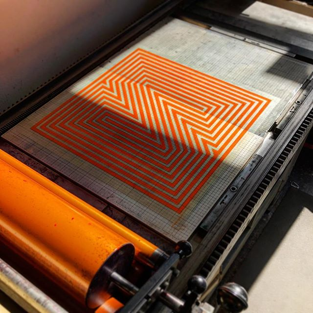 Beautiful day spent printing at The Arm today. New print coming soon! . . . #printing #printingpress #letterpress #prints #largescale #plates #geometric #neon #orange #posterdesign #poster #posters #posterart #postershop #art #artprints #artprint #paper #inkonpaper #ink #designboom #designmilk #designlife #printlife #designinspiration #designsponge #designstudio