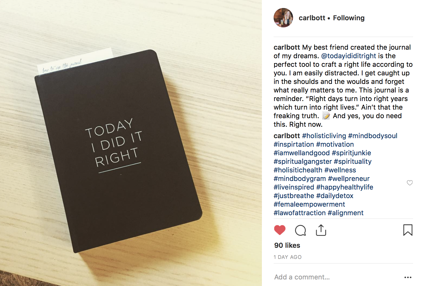 TODAY I DID IT RIGHT Self-Connection Journal Customer Review.jpg