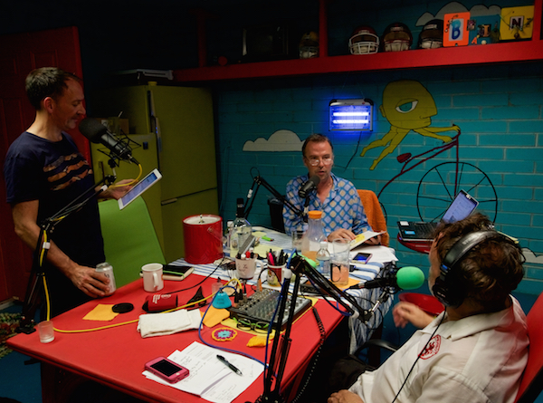 Mr. Hennigan, Doug Stanhope & Ggreg Chaille in the Bunker at the Quiet House.