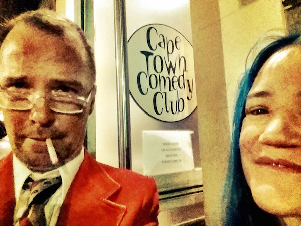 Doug and Bingo visit the Cape Town Comedy Club