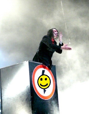 Manson's Smiley Face Podium