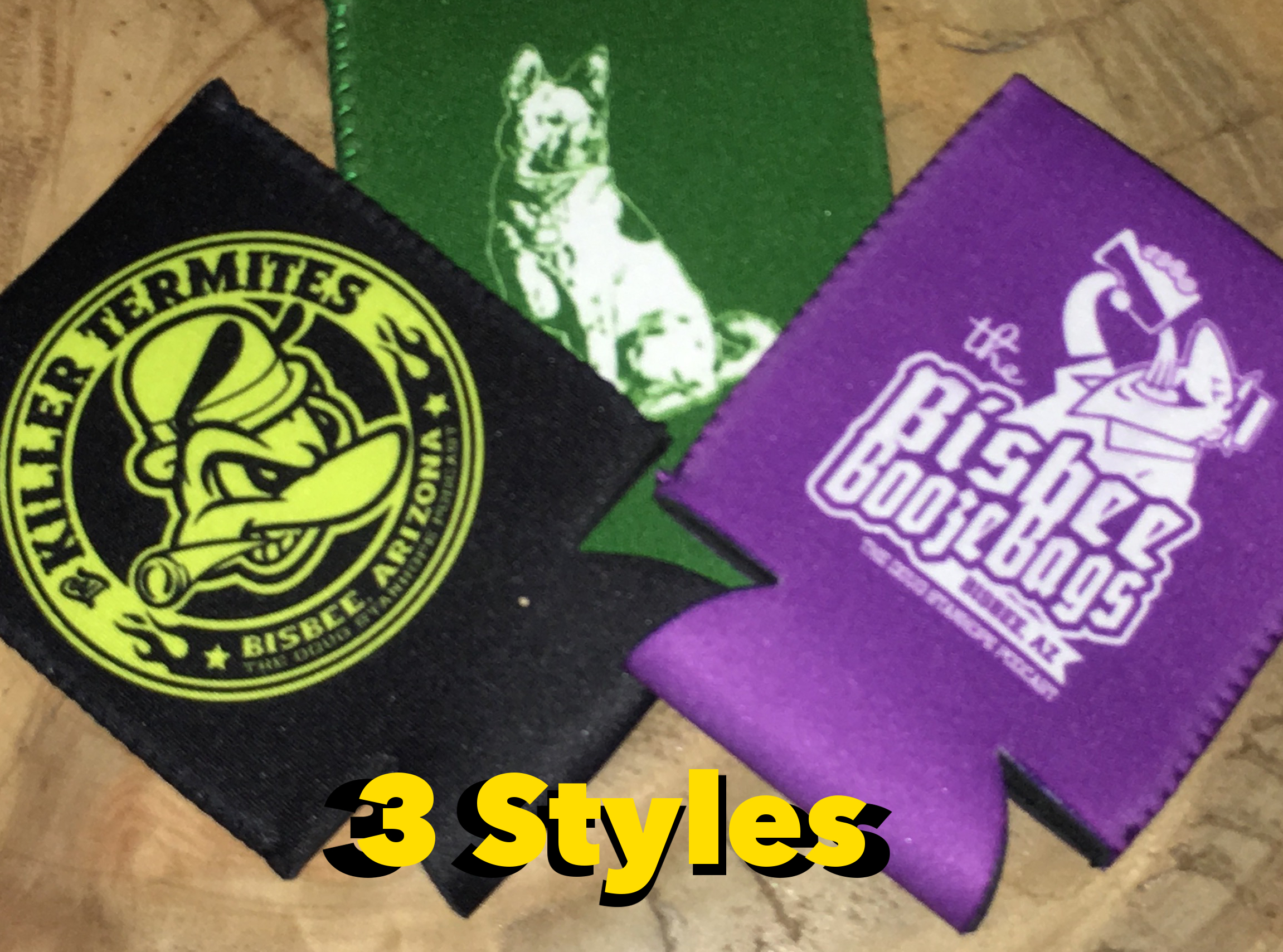 Beer Koozies - 3 styles and you don't have to choose because we sell the set of 3 together.