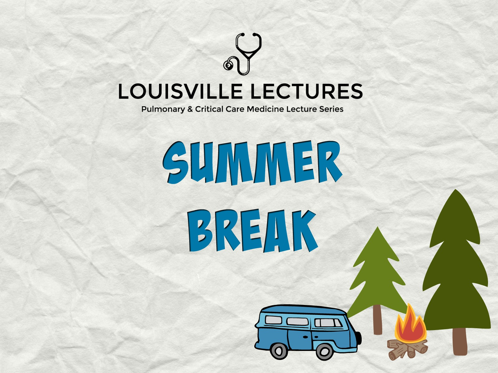 Summer is here! - We hope you've enjoyed our first set of lectures from the 2018 -2019 academic year. We will be taking a short break from posting this summer in order to keep our lectures fresh and relevant. We will be back in the fall with new content. See you soon!- PulmCrit Louisville Lectures