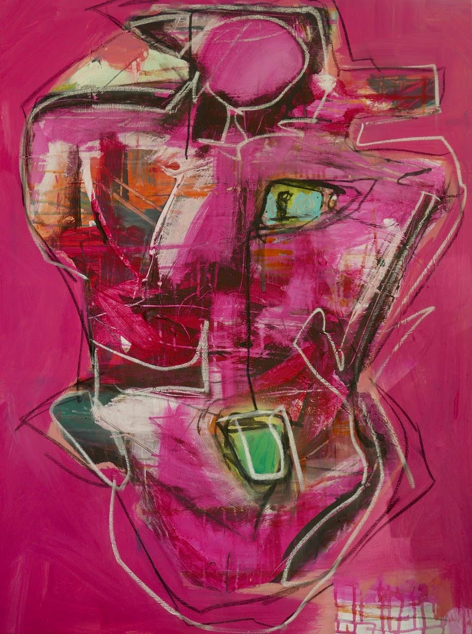 "Big Pink, 30""x40"", Acrylic on canvas"