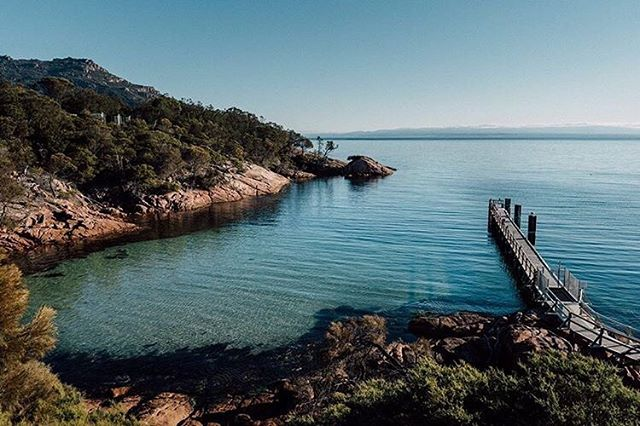 Good morning Freycinet! Looking speccy (as always). Mighty cold for a swim at the moment - water temp 14 degrees C - but gee it will get your heart going. Shot by @ludopetrik on his latest adventure south. #placesweswimTAS