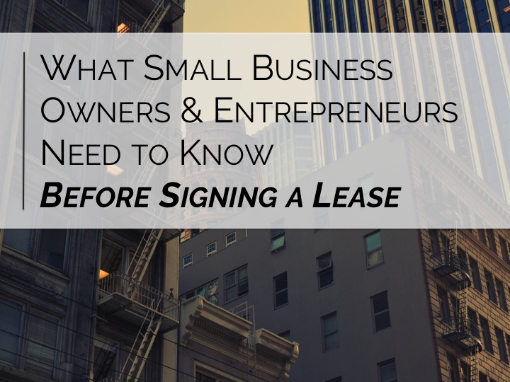 Small Business Entrepreneurs commercial lease