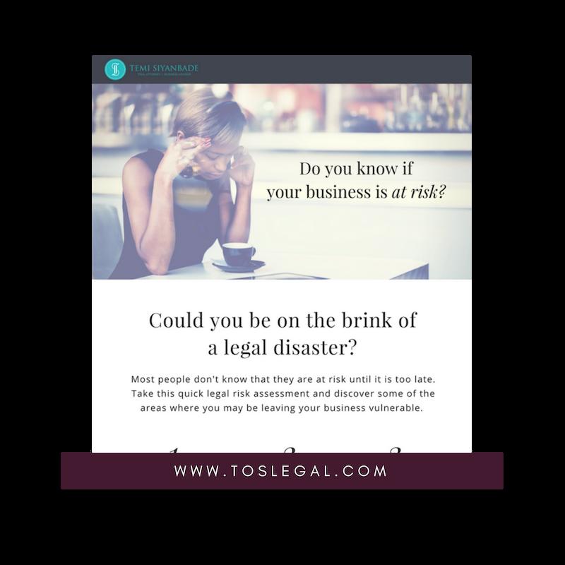 Legal Risk Assessment