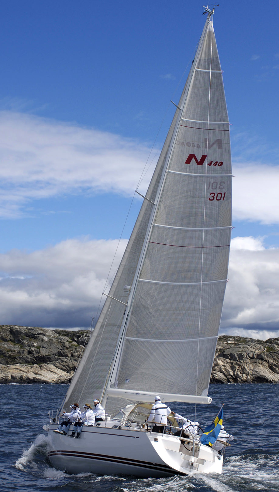 Titanium Double Taffeta fully battened mainsail.