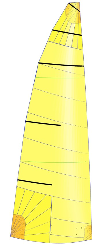 UK Sailmakers J70_AP_Mainsail_Cross_cut