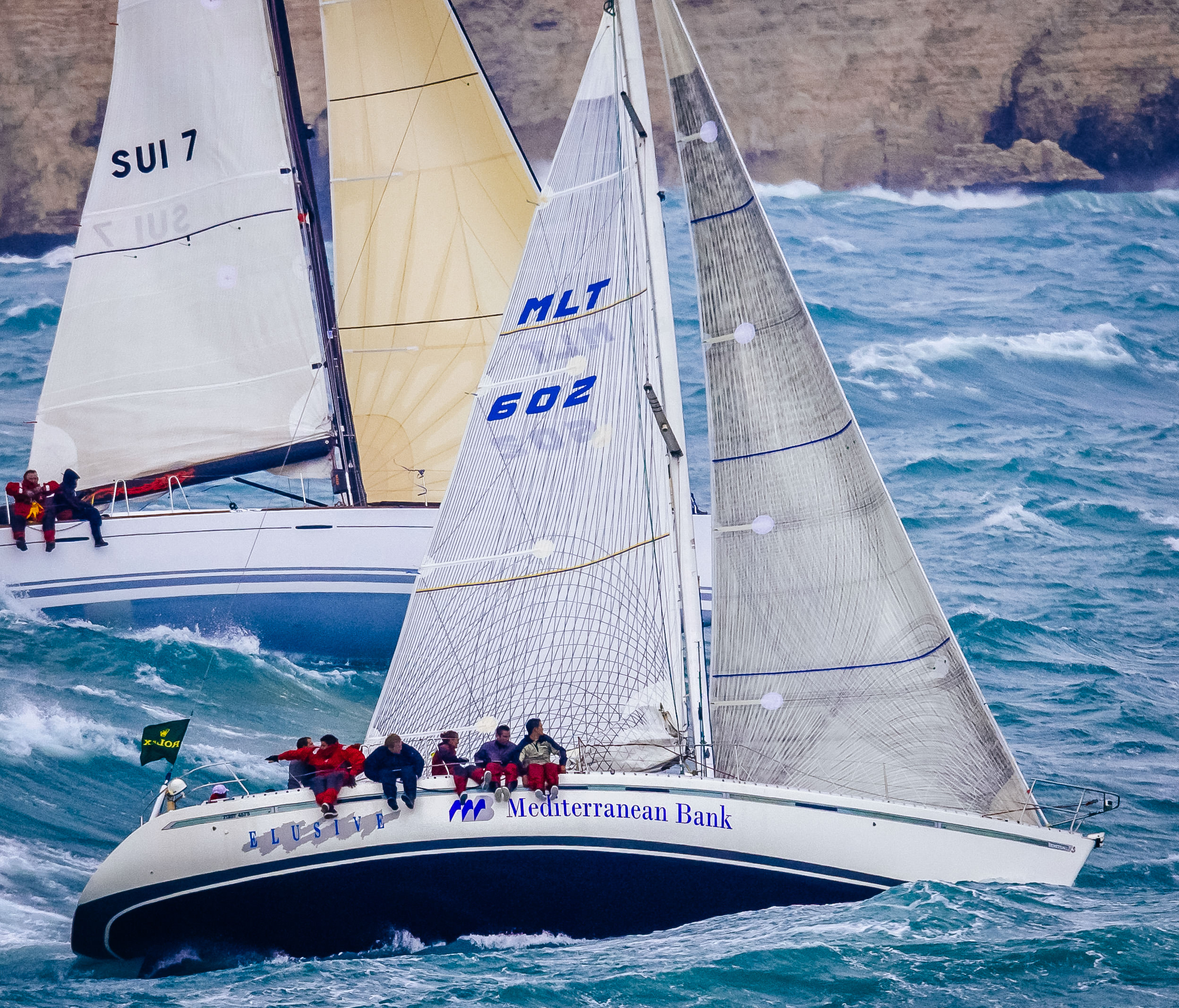 UK Sailmakers Horizontal Battens Genoa Elusive Ben 45f5  Middle Sea 2007