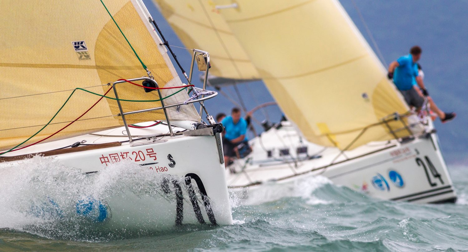 Two Beneteau 40.7s racing with aramid Flex No. 3 genoas at the China Cup International Regatta.
