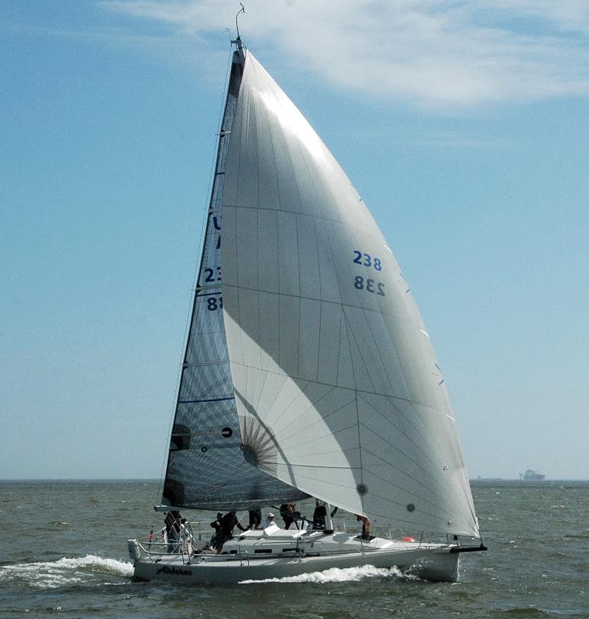 UK Sailmakers J109 Code Zero Leading Edge