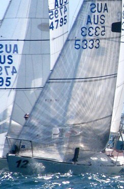 Dave Suda, sailing PACEMAKER won the 2012 Australian Nationals using a UK Sailmakers Titanium Genoa.