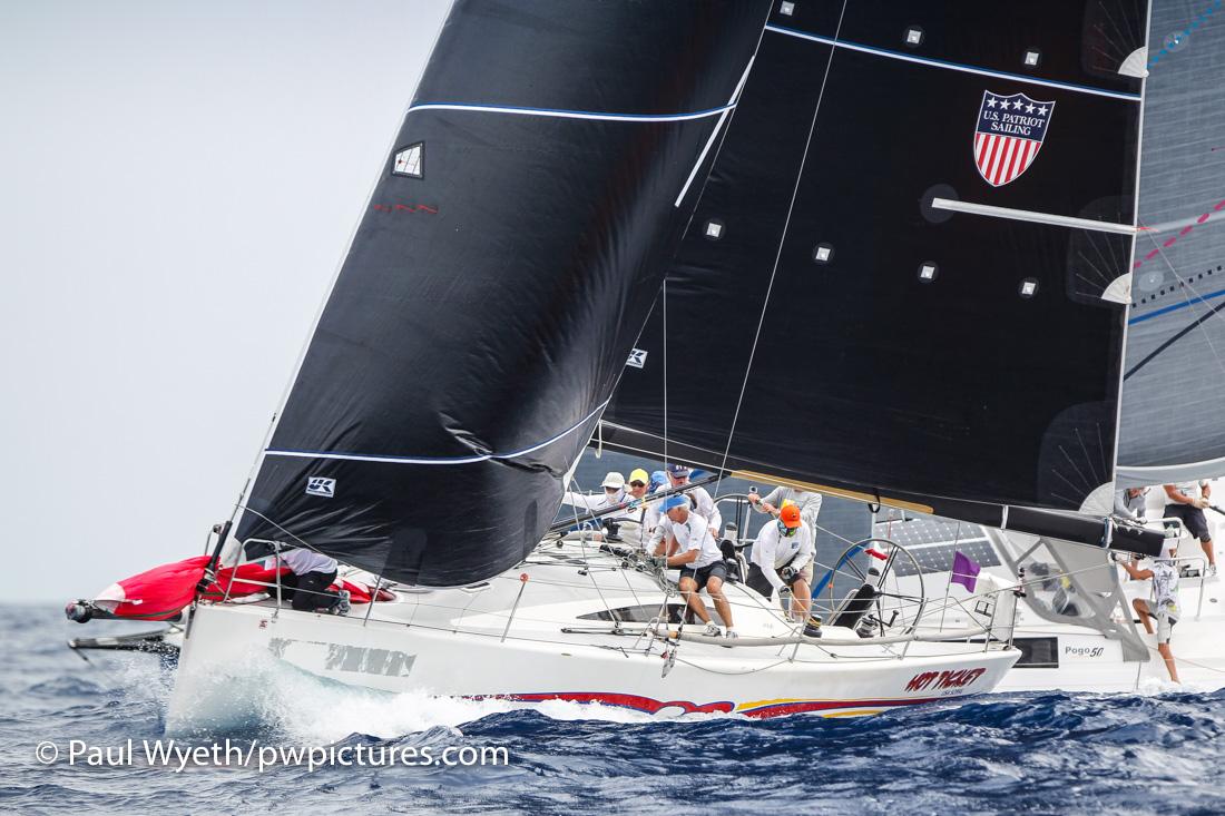 Jim Hightower's King 40 HOT TICKET, flying Uni-Titanium sails won CSA 4