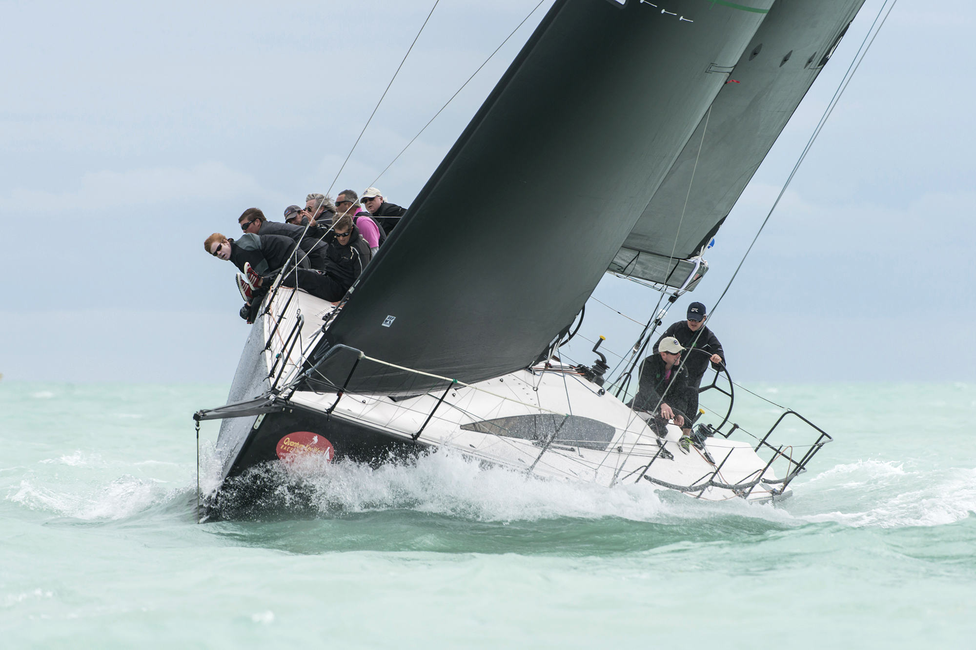 The Sydney 43 CHRISTOPHER DRAGON won her division at Key West Race Week 2016 with eight firsts and a second sailing with a full inventory of Uni-Titanium upwind sails.