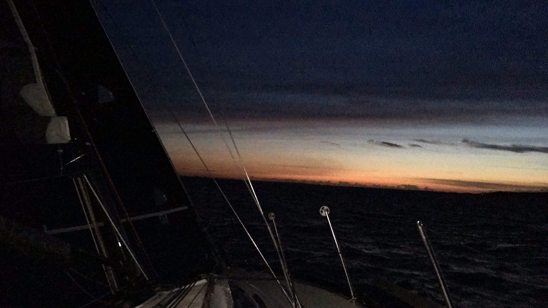"""""""I had too much adrenaline to get sleepy; too much competition to relax. I made five spinnaker changes on a tight reach between midnight and 0600, all that moving around kept me awake,"""" said Stefan Voss, skipper of the X332 DOGMATIX."""