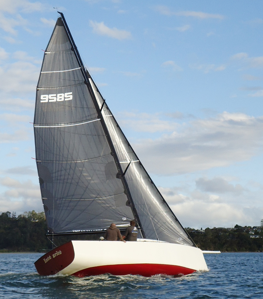 INTRIGUE with a full suite of UK Sailmakers Tape-Drive sails.