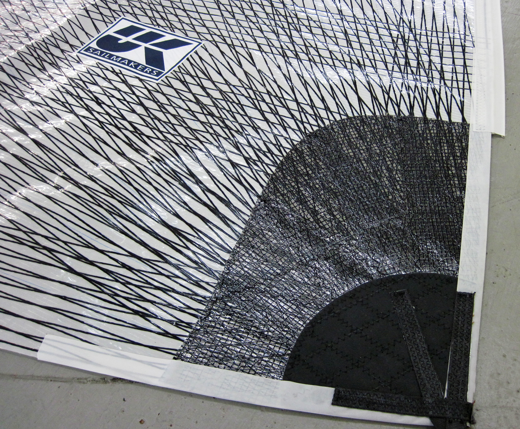 Carbon tapes on an X-Drive sail.