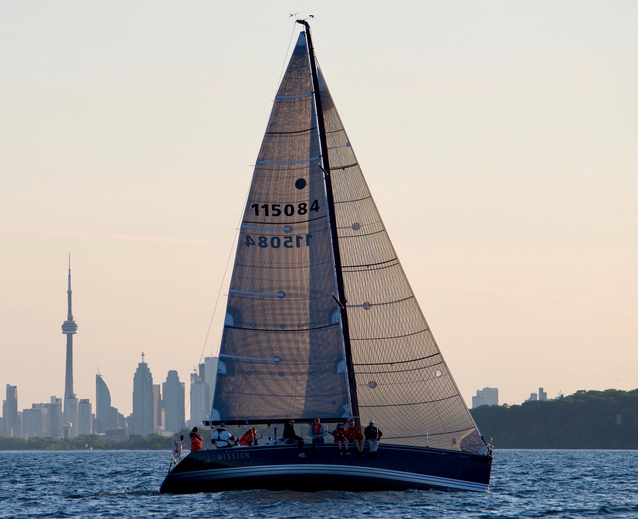 Mike Kern's C&C 115 TRANSMISSION sailing with an X-Drive mainsail and Tape-Drive jib.