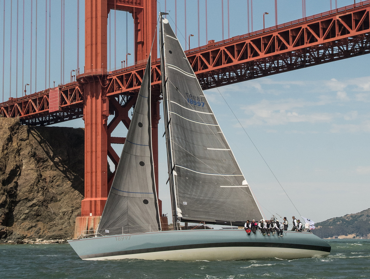 WESTERLY leaving San Francisco on her way to Hawaii in the 2018 Paciific Cup flying her No. 4 genoa and full X-Drive carbon main.