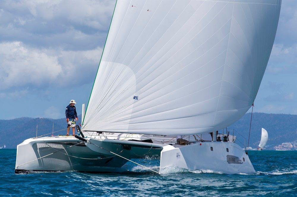 The 50-foot catamaran RUSHOUR