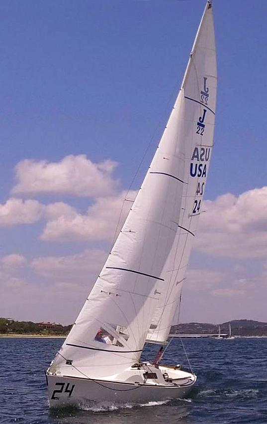 The new UK Sailmakers Radial J/22 Jib.