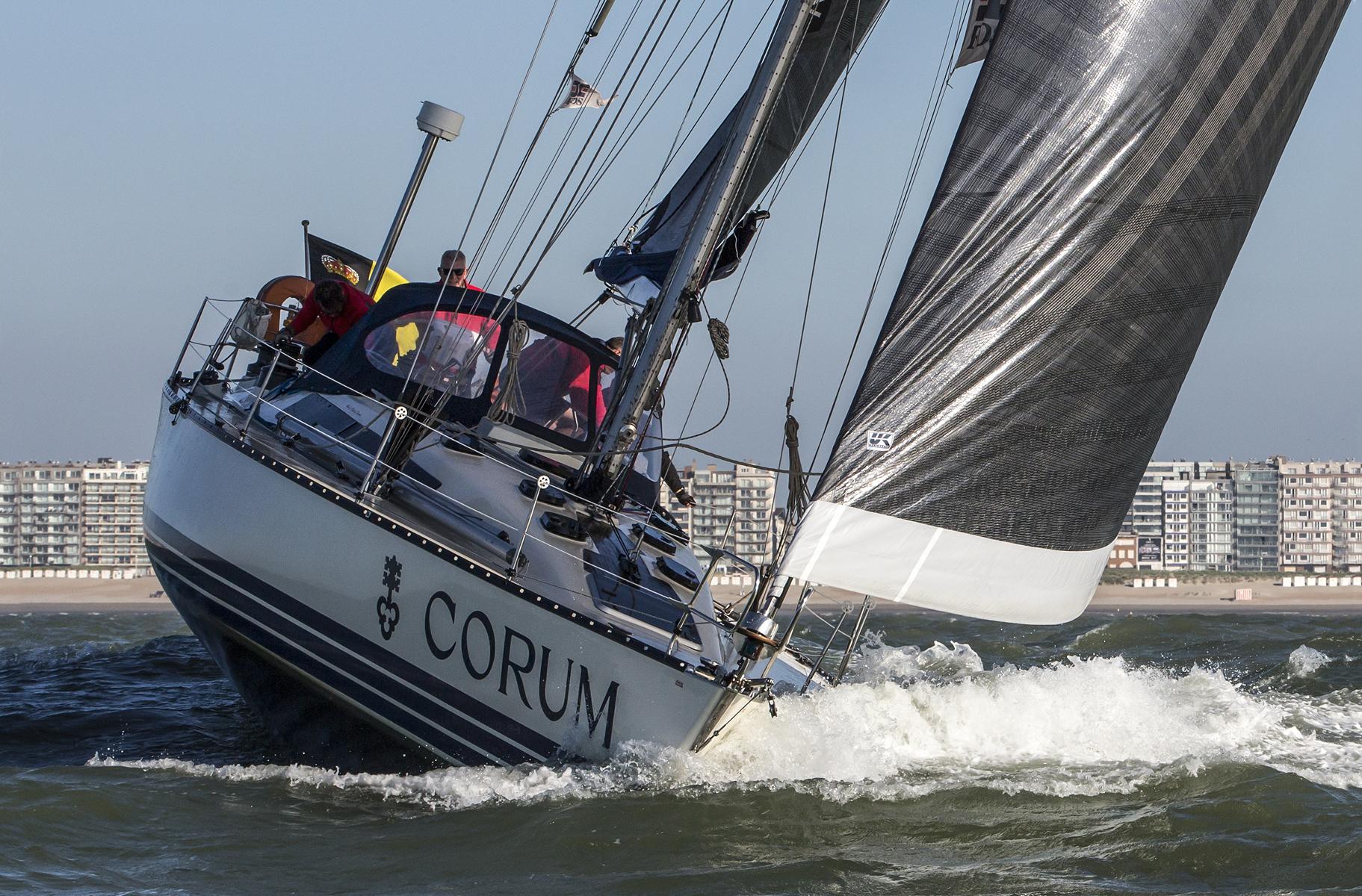 Photographer Gerhard Batur captured NiNiX reefed down off her home port of Nieuwpoort, Belgium.