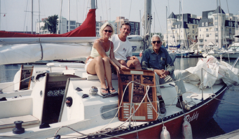 A blast from the past. Randy and his wife Sue, who will be involved in the loft, with George Cuthbertson.
