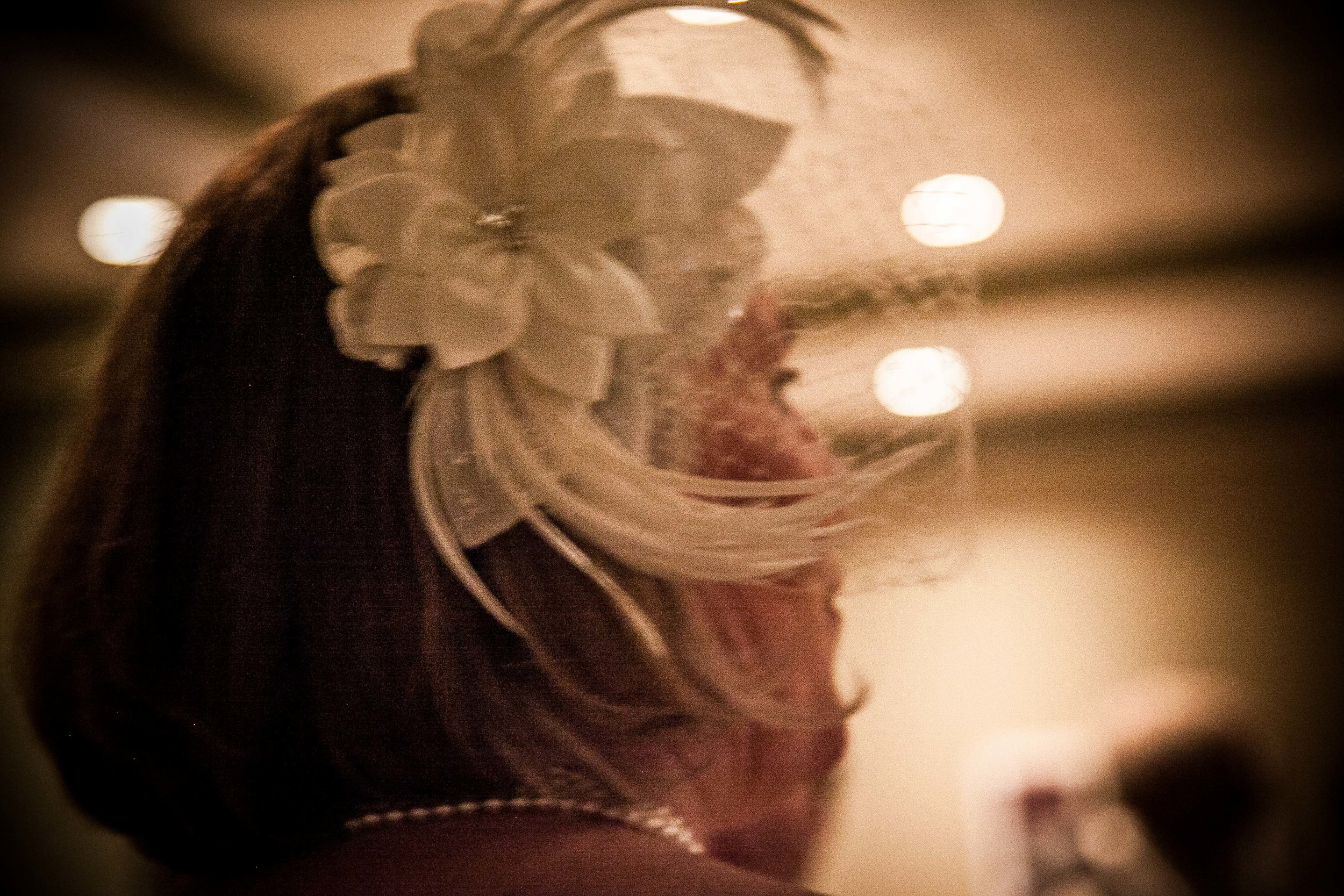 night time image of bride